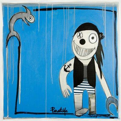 Atelier Contemporain Le Poisson Et Le Pirate by Paratilla Art Print Wrapped on Canvas