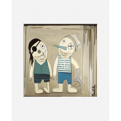 Atelier Contemporain Les 2 Pirates by Paratilla Framed Art Print