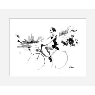 Atelier Contemporain Quai De Seine by Hossein Framed Art Print