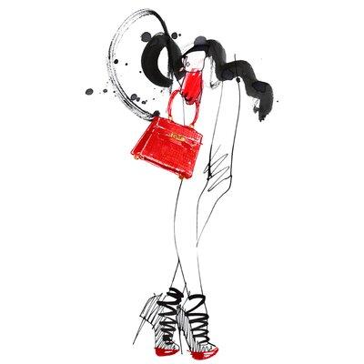 Atelier Contemporain Red Bag by Burfitt Art Print on Canvas