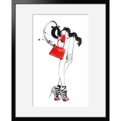Atelier Contemporain Red Bag by Burfitt Framed Art Print