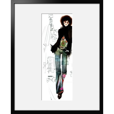 Atelier Contemporain Red Zone by Sophie Griotto Framed Art Print