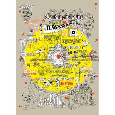 Atelier Contemporain Rhythmn Machine by Pal Design Graphic Art on Canvas