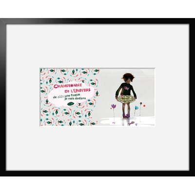 Atelier Contemporain Champion 04 by Griotto and Marcella Framed Graphic Art