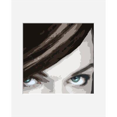 Atelier Contemporain Visage Du Monde 07 by Vidal Framed Graphic Art