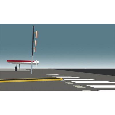 Atelier Contemporain Gas Station by Clément Dezelus Graphic Art on Canvas