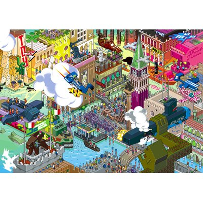 Atelier Contemporain Eboy Venise by Eboy Framed Graphic Art