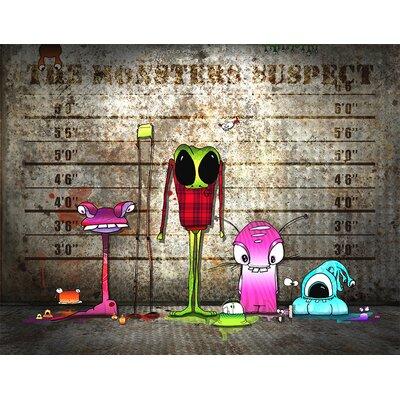 Atelier Contemporain Monsters Suspect by Ds Kamala Graphic Art on Canvas