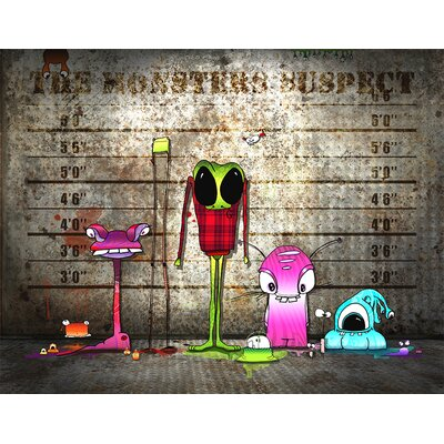 Atelier Contemporain Monsters Suspect by Ds Kamala Graphic Art Wrapped on Canvas