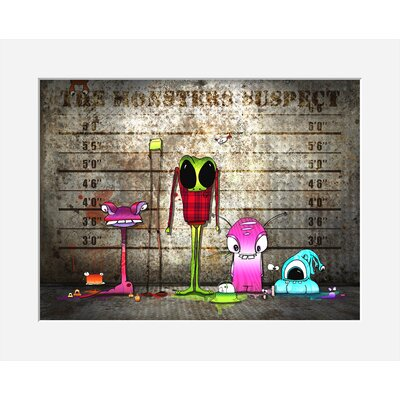 Atelier Contemporain Monsters Suspect by Ds Kamala Framed Graphic Art