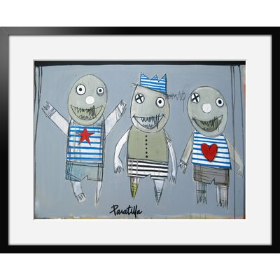 Atelier Contemporain Les Triples by Paratilla Framed Art Print