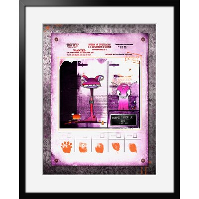 Atelier Contemporain Rose Suspect by Ds Kamala Framed Graphic Art
