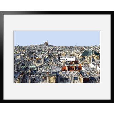 Atelier Contemporain Toits De Paris by Philippe Matine Framed Graphic Art