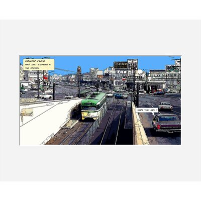 Atelier Contemporain Cable Car by Philippe Matine Framed Graphic Art