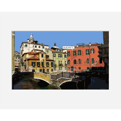 Atelier Contemporain Venise Piazza by Philippe Matine Framed Graphic Art