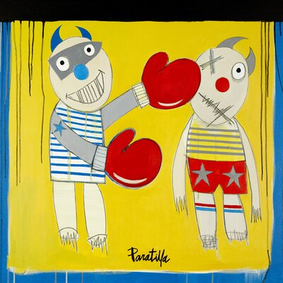 Atelier Contemporain Boxing Child by Paratilla Art Print Wrapped on Canvas