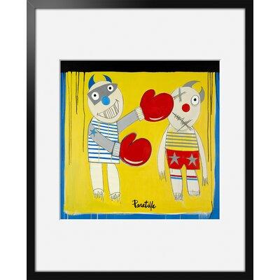 Atelier Contemporain Boxing Child by Paratilla Framed Art Print