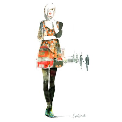 Atelier Contemporain London Girl by Sophie Griotto Graphic Art on Canvas