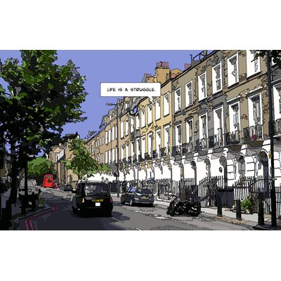 Atelier Contemporain London Life Print by Philippe Matine Graphic Art Wrapped on Canvas