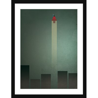 Atelier Contemporain Flying Man by Léon Framed Graphic Art