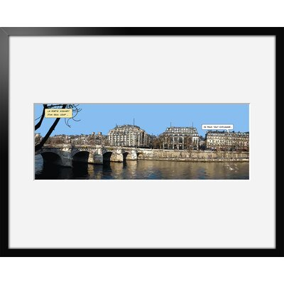 Atelier Contemporain Pont Neuf by Philippe Matine Framed Graphic Art