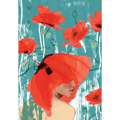 Atelier Contemporain Poppy Crown by Klassen Art Print Wrapped on Canvas