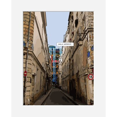 Atelier Contemporain Modernite by Philippe Matine Framed Graphic Art
