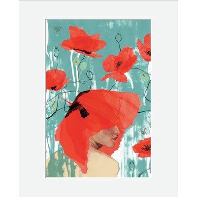 Atelier Contemporain Poppy Crown by Klassen Framed Art Print