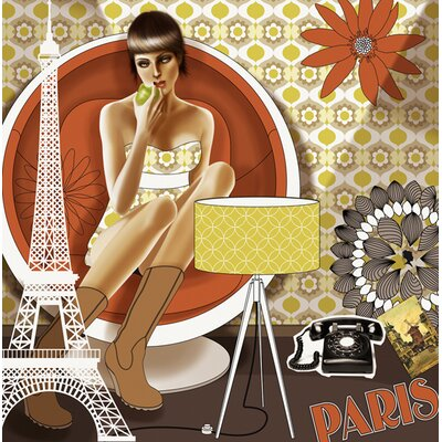 Atelier Contemporain La Croqueuse by Plateau Graphic Art Wrapped on Canvas