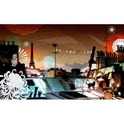 Atelier Contemporain Paris La Nuit by Plateau Graphic Art Wrapped on Canvas