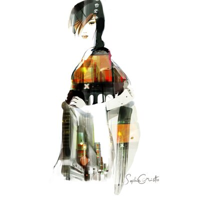 Atelier Contemporain Urban Girl 09 by Sophie Griotto Graphic Art on Canvas