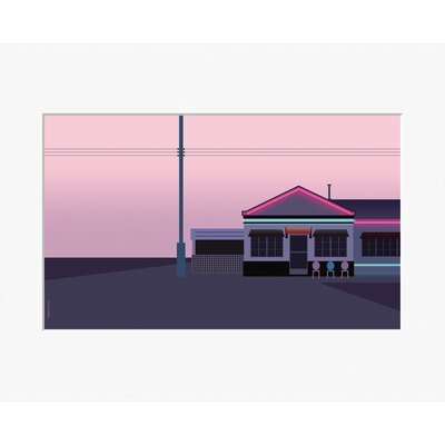 Atelier Contemporain Pink Motel by Clément Dezelus Framed Graphic Art