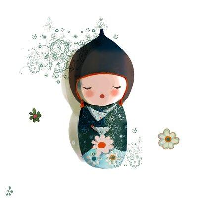 Atelier Contemporain Shizuko by Sophie Griotto Graphic Art on Canvas in Green