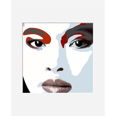 Atelier Contemporain Visage Du Monde 01 by Vidal Framed Graphic Art