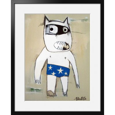 Atelier Contemporain Slip Blue by Paratilla Framed Art Print
