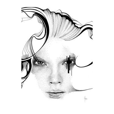 Atelier Contemporain Bristol Black by Rikke Jørgensen Graphic Art