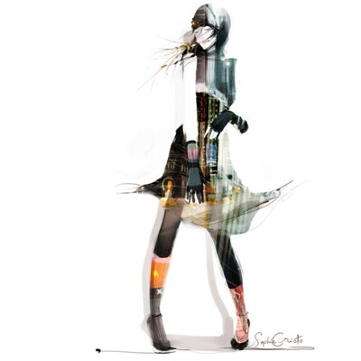 Atelier Contemporain Urban Girl 06 by Sophie Griotto Graphic Art on Canvas