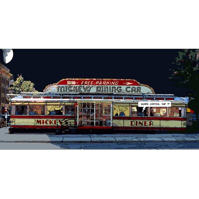 Atelier Contemporain Mickeys Diner by Philippe Matine Graphic Art on Canvas