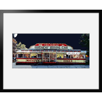 Atelier Contemporain Mickeys Diner by Philippe Matine Framed Graphic Art