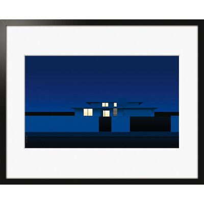 Atelier Contemporain Suburban Night by Clément Dezelus Framed Graphic Art