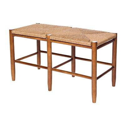 South Port Wood Bench Color: Medium Oak