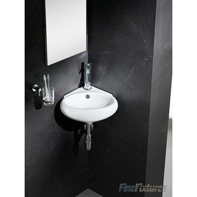 "Modern Ceramic 17"" Corner Bathroom Sink"