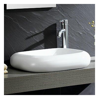 Modern Ceramic Square Vessel Bathroom Sink