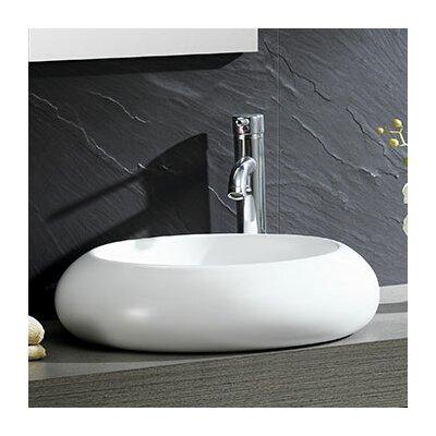 Modern Ceramic Circular Vessel Bathroom Sink
