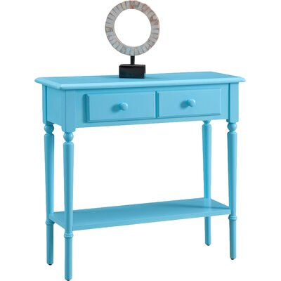 Coastal Notions Console Table Color: Regatta Blue