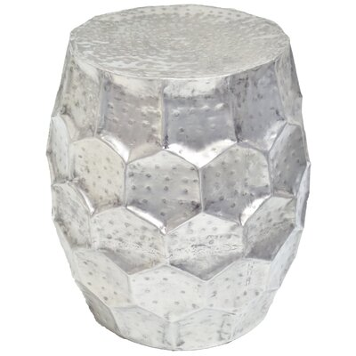 Accent Stool Finish: Silver