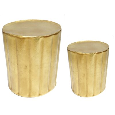 2 Piece Accent Stool Set