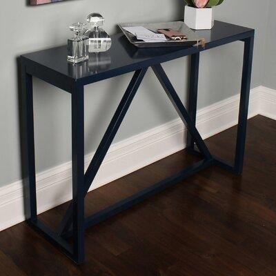Dunstan Wood Console Table Color: Navy Blue