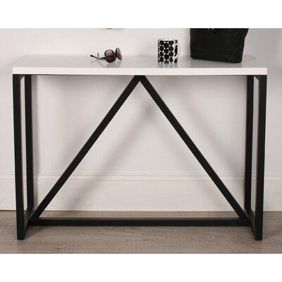 Dunstan Wood Console Table Color: White/Black