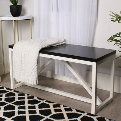Dunstan Wood Bench Color: Black/White